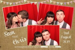 Sam & Chris's Wedding Photobooth at Winters Barns in Kent