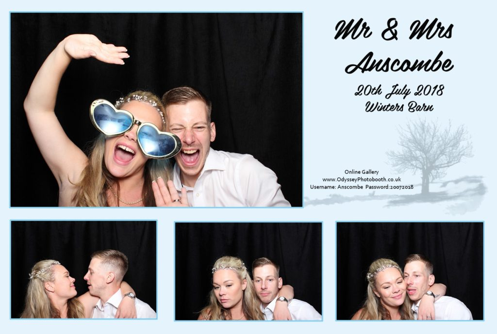 Wedding Photobooth at Winters Barns in Kent