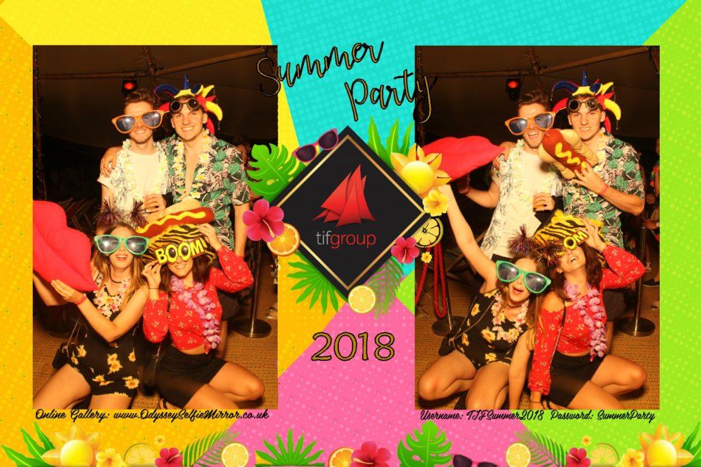 Summer Party Selfie Mirror in Kent