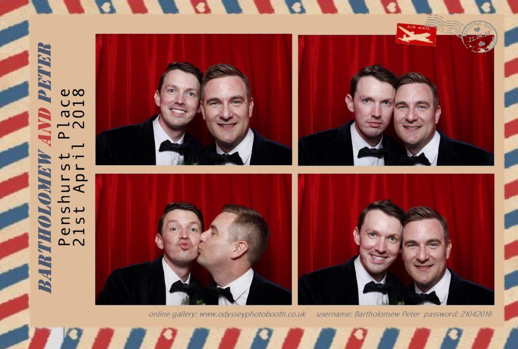 Wedding Photo booth at Penshurst Place Tunbridge Wells