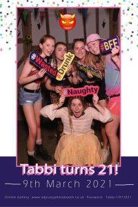 21st Birthday Party Selfie Mirror
